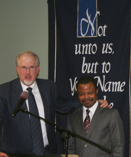 Guest speaker and the pastor