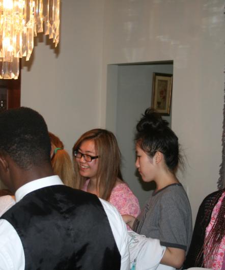 Girls attending a gathering